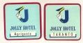2 ETICHETTE JOLLY HOTEL (TARANTO, AGRIGENTO)