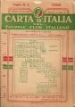 CARTA D'ITALIA DEL T.C.I. Foglio n.3 COMO