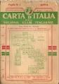 CARTA D'ITALIA DEL T.C.I. Foglio n.1 AOSTA