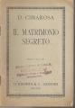 IL MATRIMONIO SEGRETO Libretto d'opera