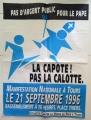 Manifesto COLLECTIF CONTRE LA VENUE DU PAPE A TOURS