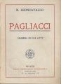 PAGLIACCI libretto d'opera