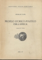 PROFILO STORICO-POLITICO DELL'AFRICA